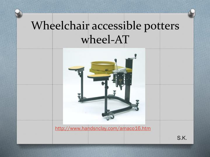 Wheelchair accessible potters wheel-AT