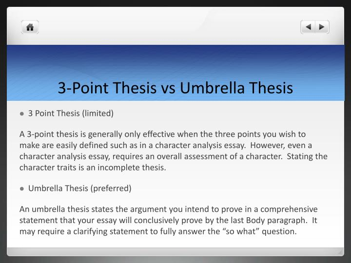 3-Point Thesis