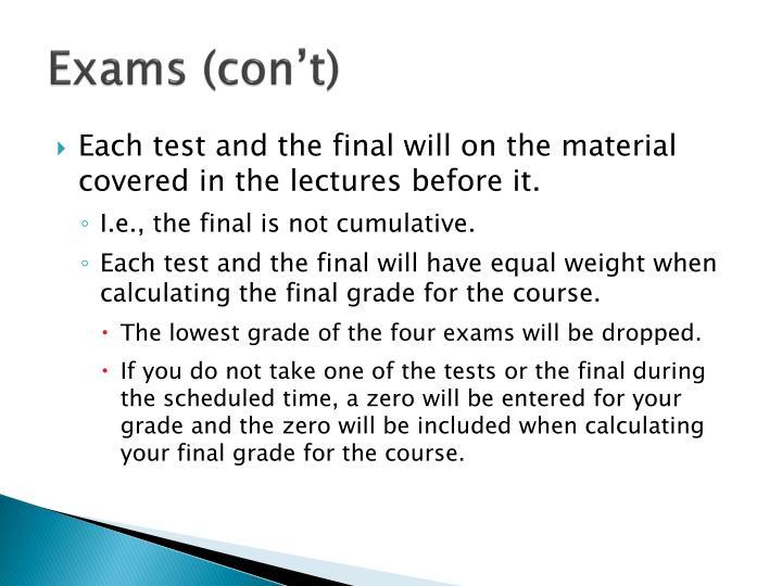 Exams (