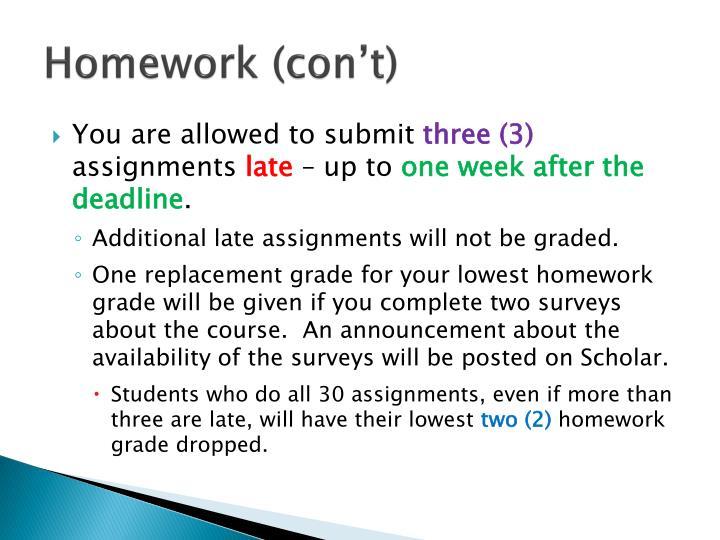 Homework (