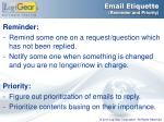 email etiquette reminder and priority
