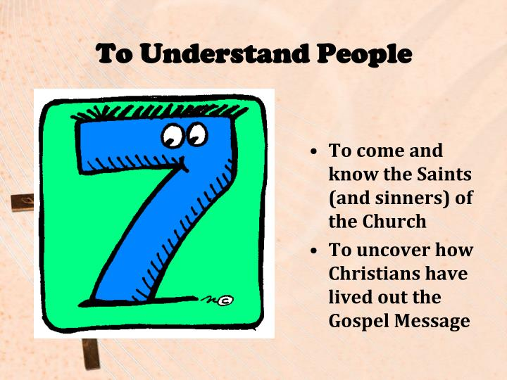 To Understand People