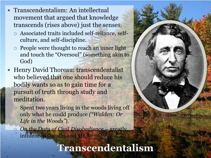 an analysis of the characteristics of transcendentalism a philosophical movement Transcendentalism is   1 a literary movement 2 philosophic conception 3 epistemology (a way of knowing) 4 all of the above  characteristics of transcendentalism.