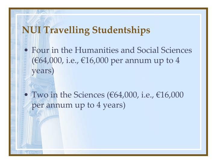 NUI Travelling Studentships