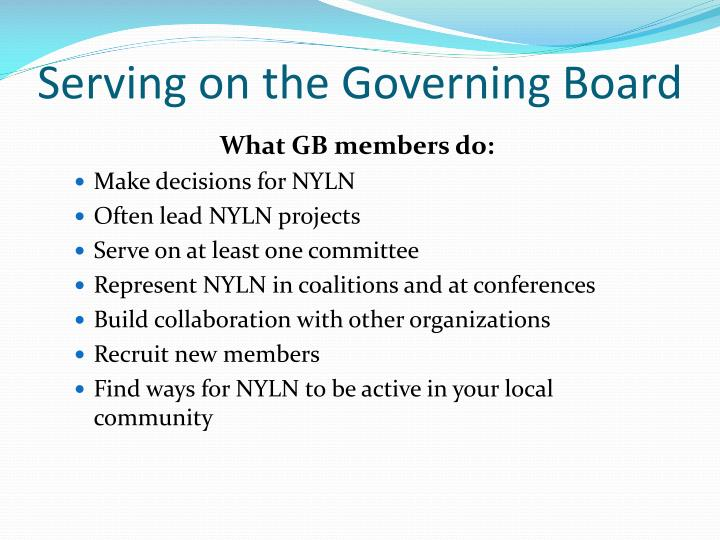 Serving on the Governing Board