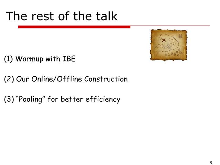 The rest of the talk