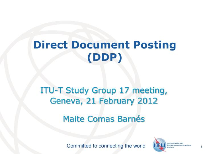 Direct document posting ddp