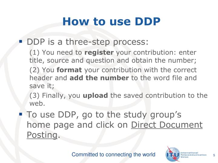 How to use DDP