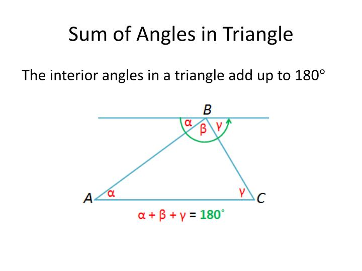 Ppt euclidean geometry powerpoint presentation id 2605611 What do exterior angles of a triangle add up to