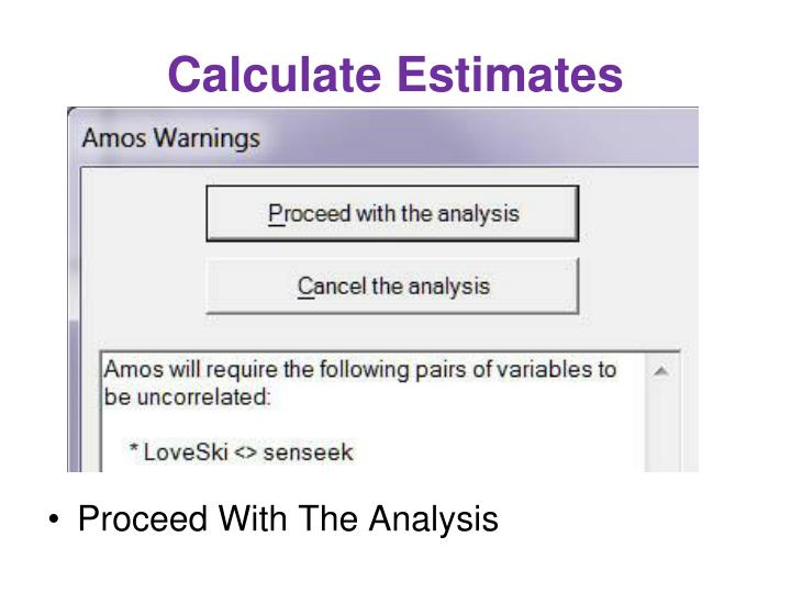 how to read amos output path analysis