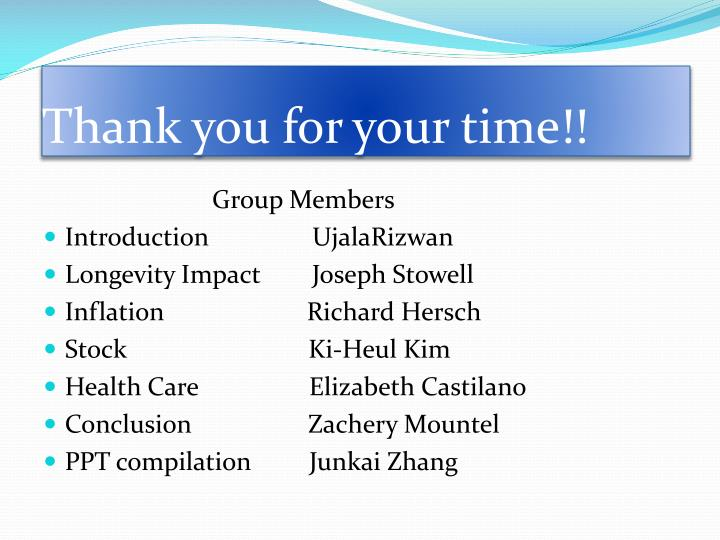 Thank you for your time!!