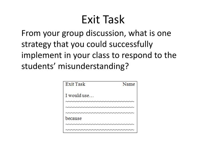 Exit Task