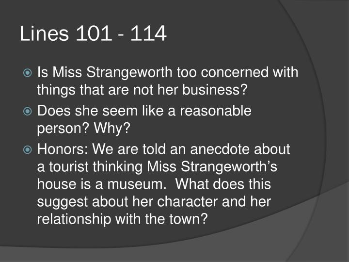 "possible of evil ms strangeworth personality The possibility of evil"" (shirley jackson) response package describe the setting the setting of this story is in a small town in america in the 1950s 2 describe/discuss the character of miss adela strangeworth."