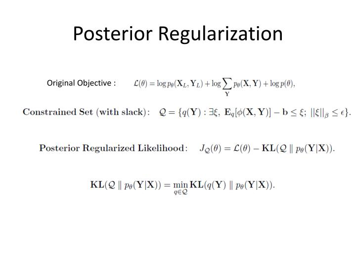 Posterior Regularization