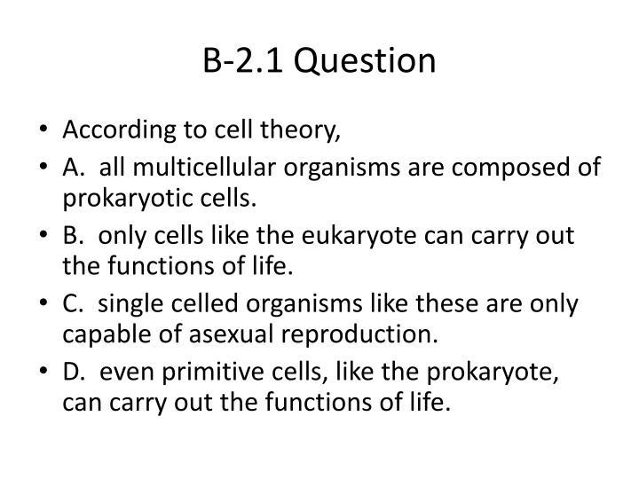 B-2.1 Question