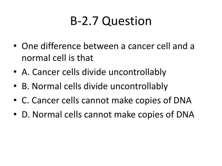 B-2.7 Question