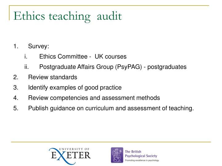 Ethics teaching