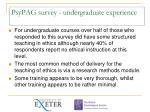 psypag survey undergraduate experience