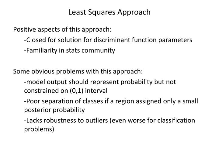 Least Squares Approach