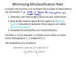 minimizing misclassification rate