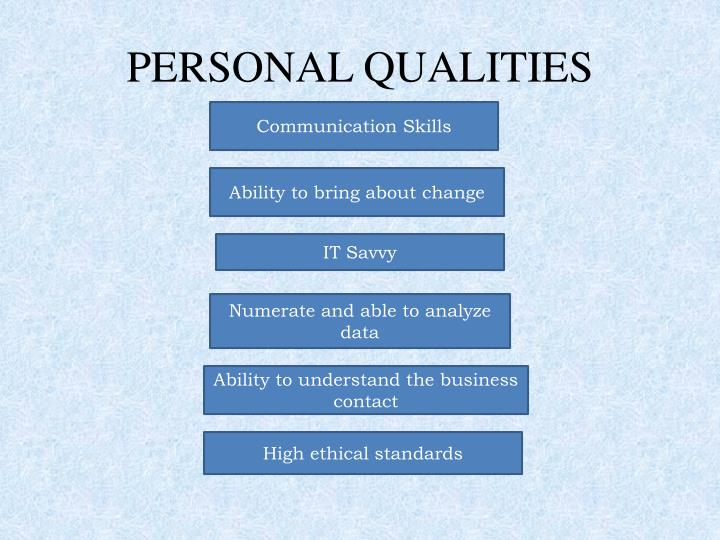 PERSONAL QUALITIES