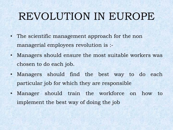 REVOLUTION IN EUROPE
