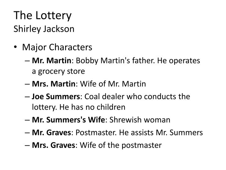 the lottery by shirley jackson and the destructors by graham greene essay Fiction essay instructions the lottery by shirley jackson, the destructors by graham greene, the rocking-horse winner by dh lawrence.