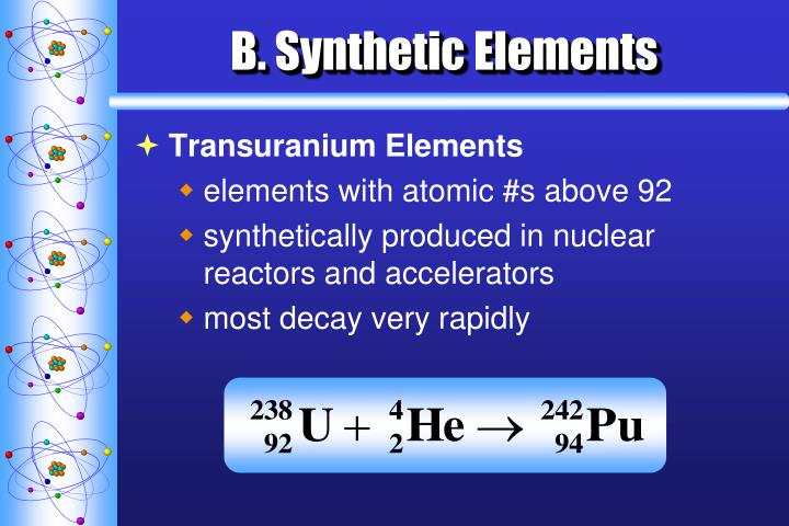 B. Synthetic Elements
