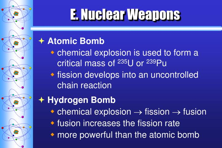 E. Nuclear Weapons