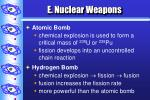 e nuclear weapons