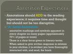 annotation expectations