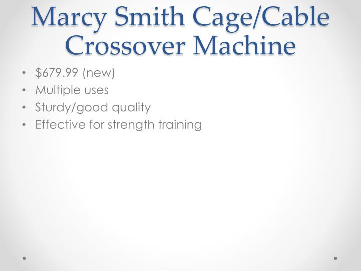 Marcy Smith Cage/Cable Crossover Machine