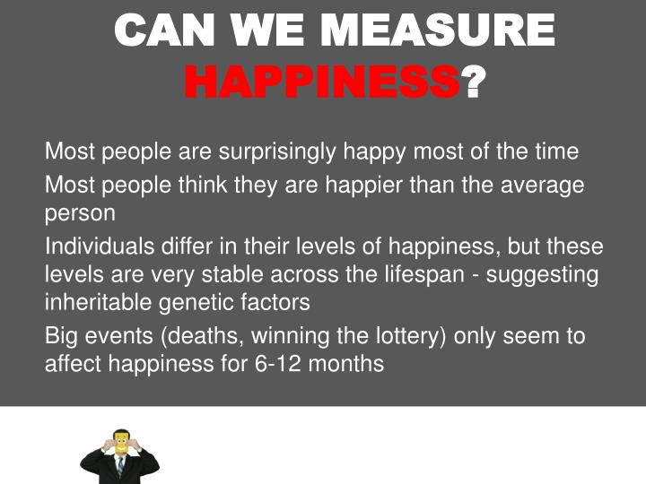 CAN WE MEASURE