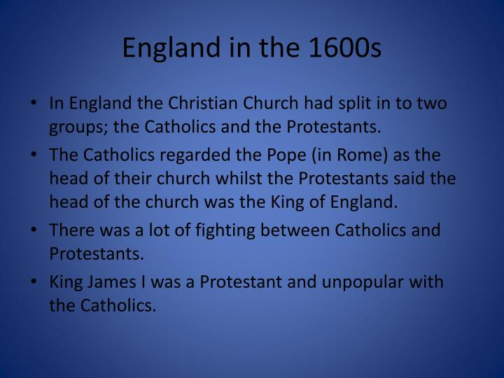 England in the 1600s