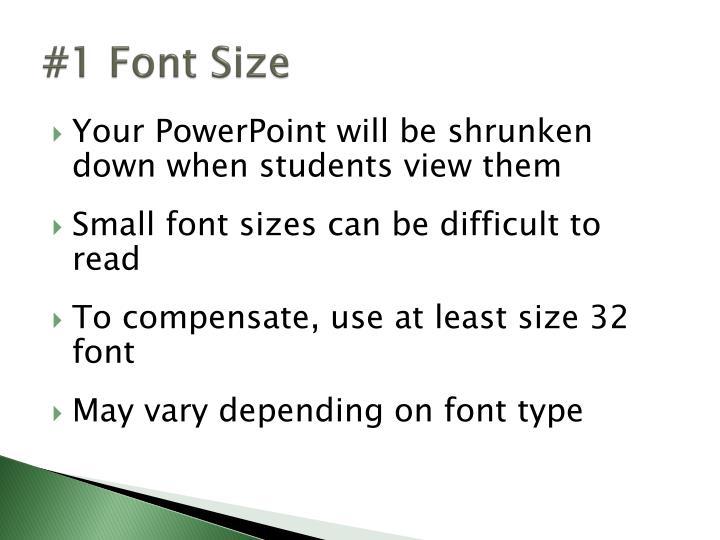 #1 Font Size
