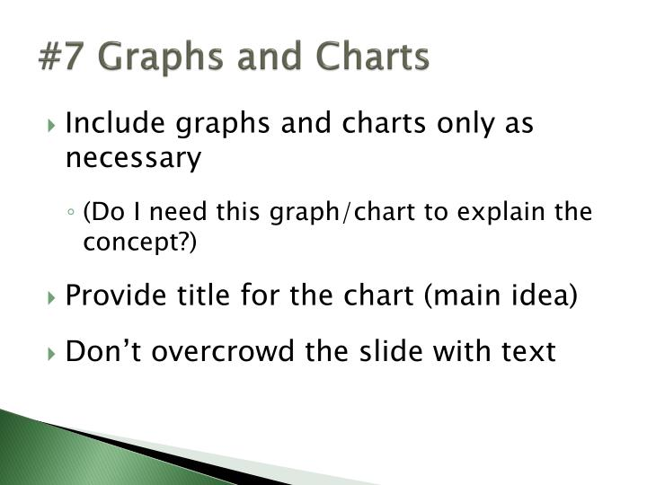 #7 Graphs and Charts