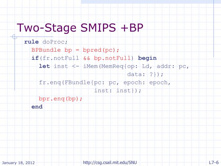 Two-Stage SMIPS +BP