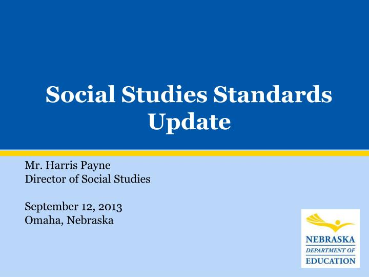 Social studies standards update