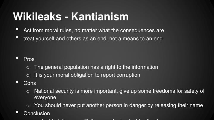 Wikileaks - Kantianism