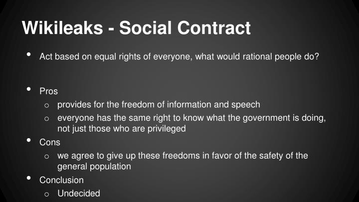Wikileaks - Social Contract