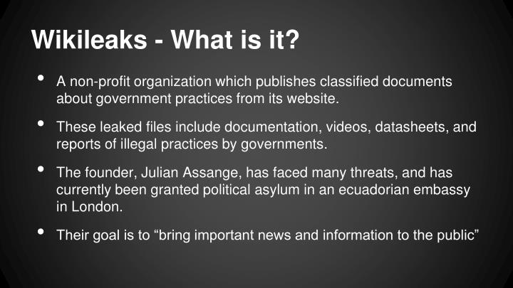 Wikileaks - What is it?