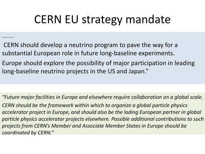 CERN EU strategy mandate