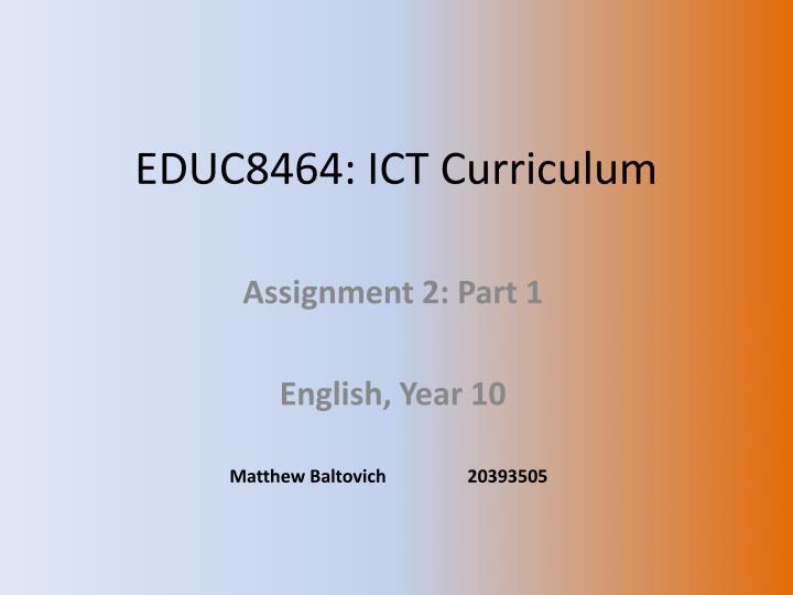 Educ8464 ict curriculum