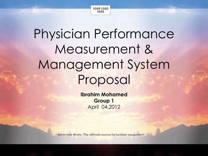 physician performance measurement management system proposal