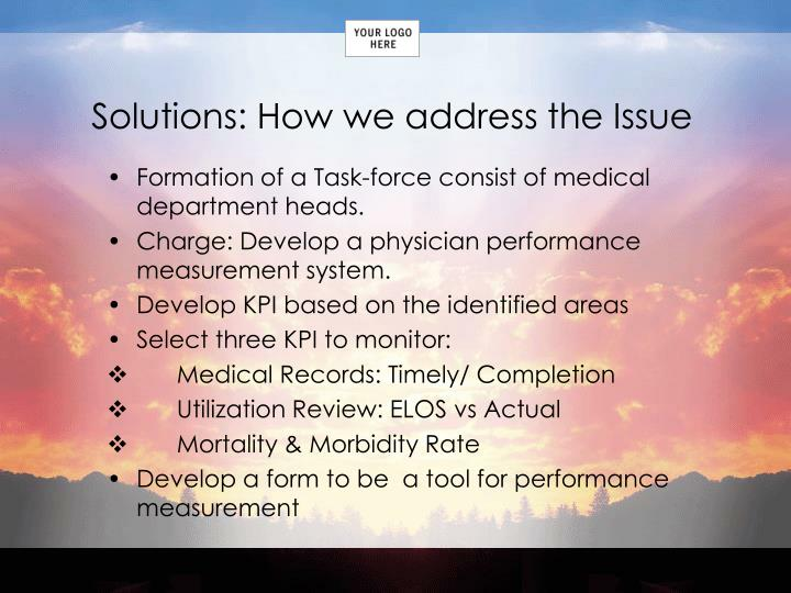 Solutions: How we address the Issue