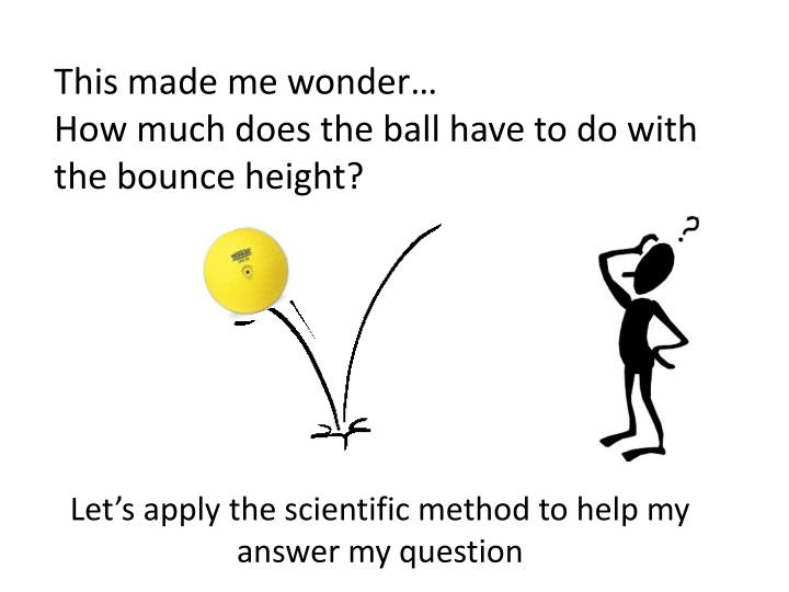 Let's apply the scientific method to help my answer my question