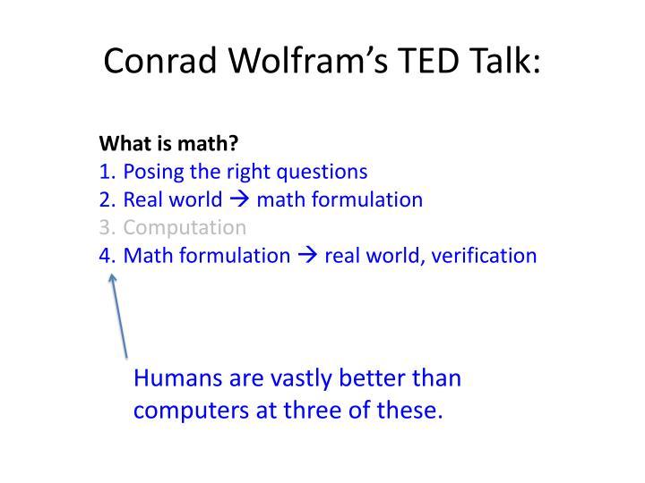Conrad Wolfram's TED Talk: