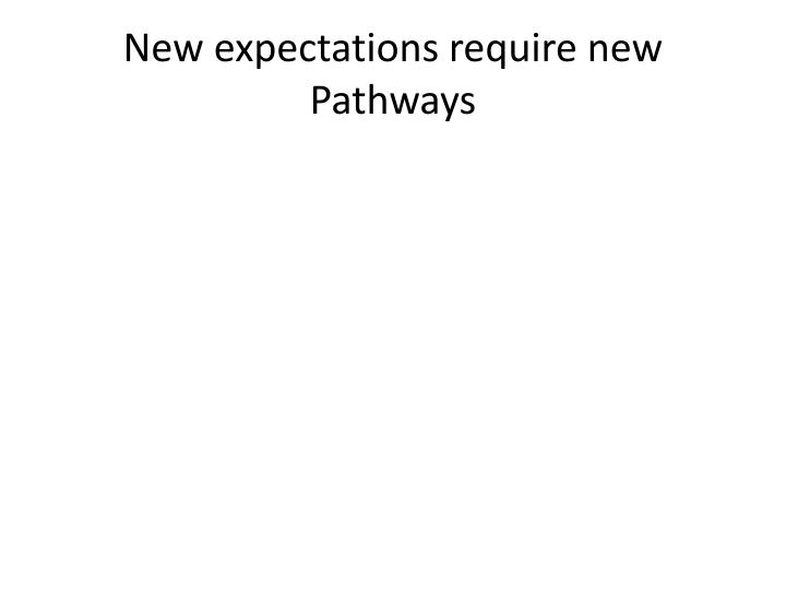 New expectations require new Pathways