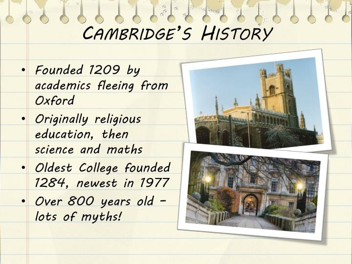 Cambridge's History