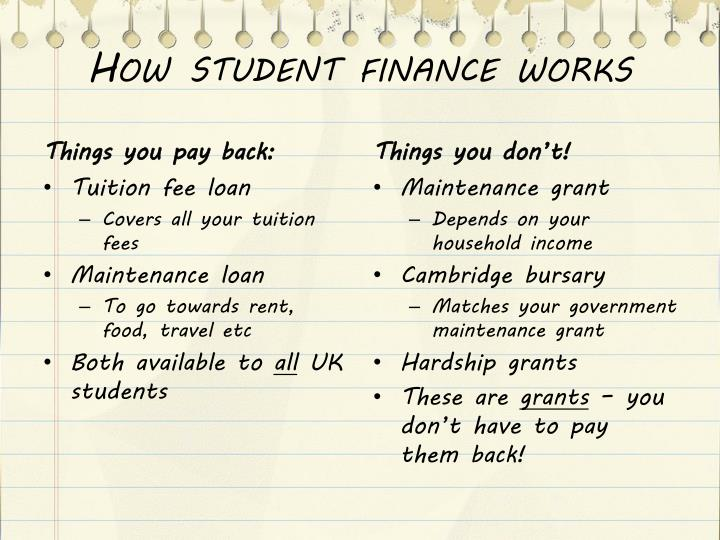 How student finance works